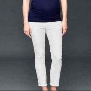Gap White Maternity Cropped Jeans Size 8